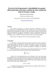 Terceira lei da fragmentação: Aplicabilidade da equação diferencial tendo como base o minério de cobre oriundo da mina do Sossego, Carajás.