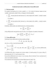 Ripasso fondamenti matematici