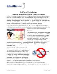 F 1 start up activities pdf