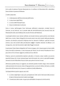 Relazione Evento Alluvionale Barcellona Pozzo di Gotto (ME) - Discorso