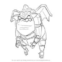 Tn how to draw lava hound from clash of the clans step