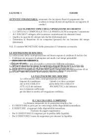appunti intermediari finanziari