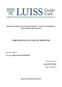 Campagna Politica e uso del Marketing