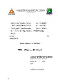 ATPS MAQ TERM II - 2 bimestre, Notas de estudo de Gestão de Serviços