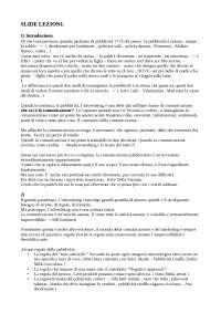 Storia Della Pubblicità + Il mestiere del Copywriter + Slide Lezioni