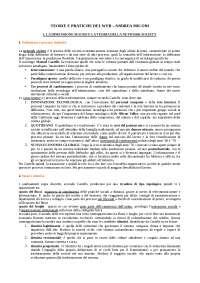 RIASSUNTO TEORIE E PRATICHE DEL WEB - ANDREA MICONI