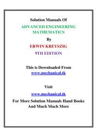 Solution manual advanced engineering mathematics 9th