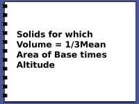 Volume, Exercises for Physics