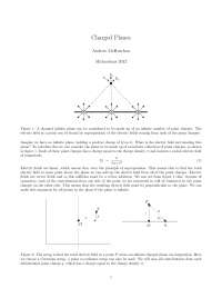 Charged Planes - Electrict Fields - Lecture Handout