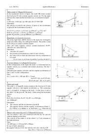 Esercises kinematics