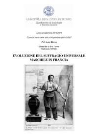 Evoluzione del suffragio universale maschile in Francia