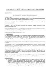 Regolamento lingua giuridica estratto regolamento didattico dip. 4 del 23 06 2014