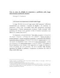 Mariangela di giandomenico relazione 04.02.2013 obblighi trasparenza (1)