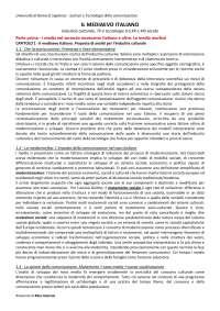 Riassunto mio il mediaevo italiano