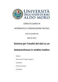 """Tesi di Laurea Triennale in Informatica  e Comunicazione Digitale """"Sistema per l'analisi dei dati su un datawarehouse in ambito medico"""""""