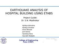 HOSPITAL BUILDING USING  ETABS