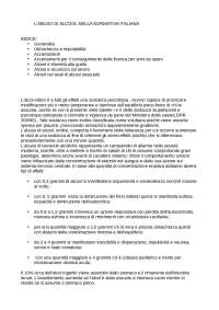 l'abuso di alcol nella normativa italiana