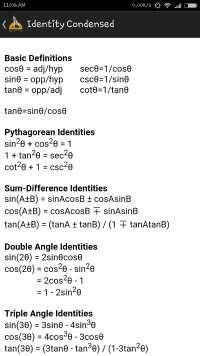 Important Formula Used In Mathematics