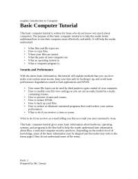 Basic computer tutorial