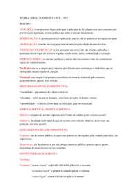 Teoria geral do direito civil  (resumo das matérias do 1º semestre)