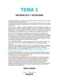 Biología. Sistemática y Taxonomía