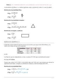Tema 6 - El comportamiento aleatorio de los flujos netos de caja