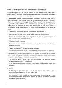 Resumen Tema 1: Estructuras de Sistemas Operativos