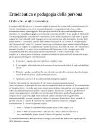 Ermeneutica e pedagogia della persona pedagogia unikore enna