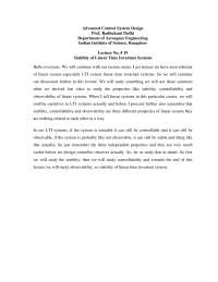 Stability of Linear Time Invariant Systems