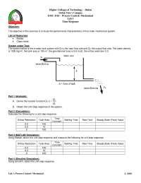 Process Control: Mechanical _ Lab 1