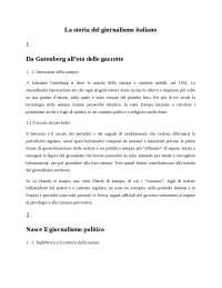 La storia del giornalismo italiano