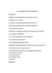 Tesi contratto telematico