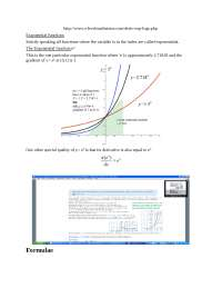 Exponential functions, Exercises for Statistics