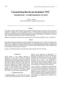 instrumentacion electronica termistor
