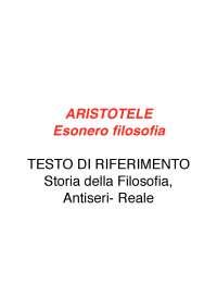 Esonero di filosofia - Aristotele