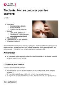 Guide de préparation aux examens