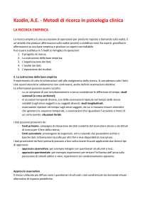 Kazdin, A.E. Metodi di ricerca in psicologia clinica