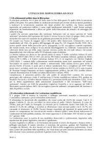 italia repubblicana riassunto
