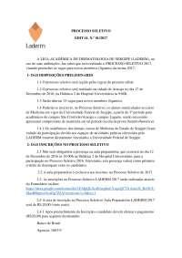 Edital - Processo Seletivo LADERM 2017