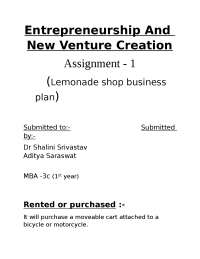 start up plan project