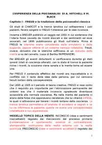 L'ESPERIENZA DELLA PSICOANALISI  DI A. MITCHELL E M. BLACK