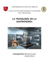 TECNOLOGIA EN LA GASTRONOMIA