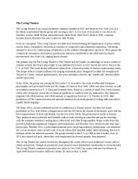 The Living Theatre, an American theatre company