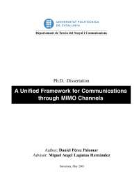 A Unified Framework for Communications through MIMO Channels