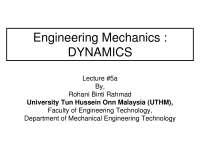 dynamic engineering chapter 5 lecturer slide