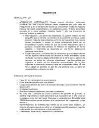 helmintos descripción y características