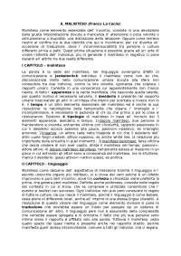 Riassunto Il Malinteso di Franco La Cecla