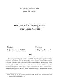 Nikola Kopernik - zivot i delo