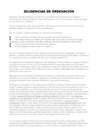 DILIGENCIAS DE ORDENACIÓN