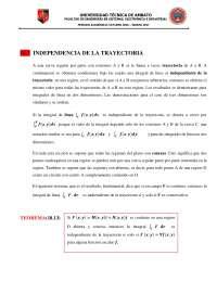 independencia de la trayectoria vectorial